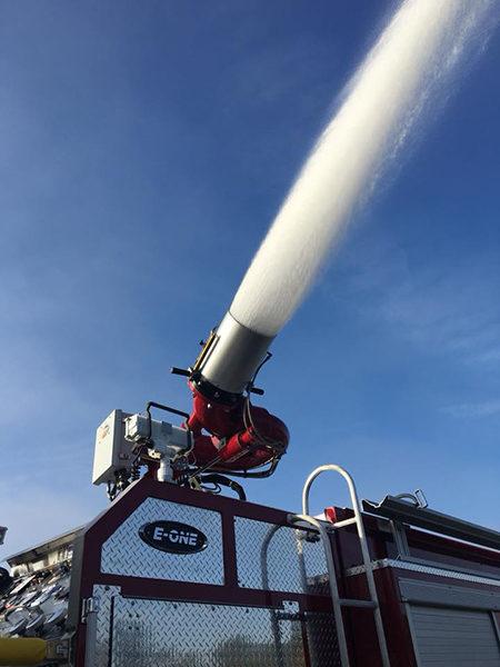 Williams deluge gun on fire engine