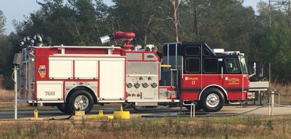 Citgo Petroleum Lemont Illinois facility fire engine