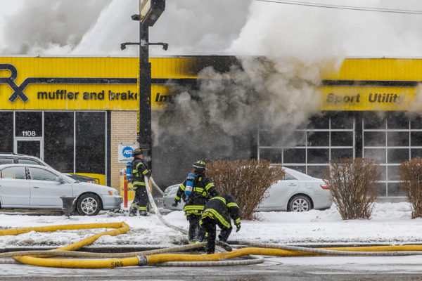 Car-X muffler shop fire