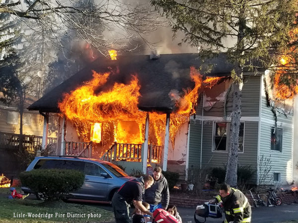 house fully engulfed in fire