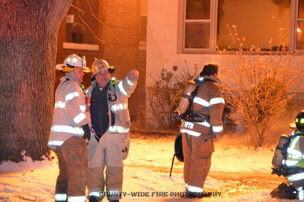 fire chiefs at fire scene