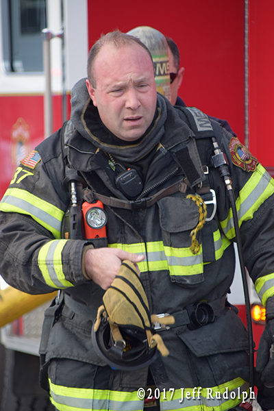 firefighter after a fire