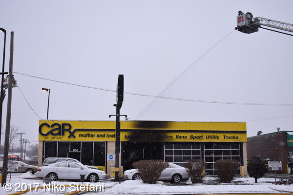 car=X auto shop destroyed by fire