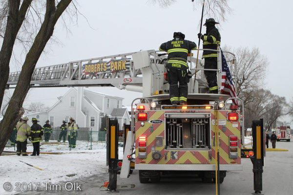 Roberts FPD fire trucks at work