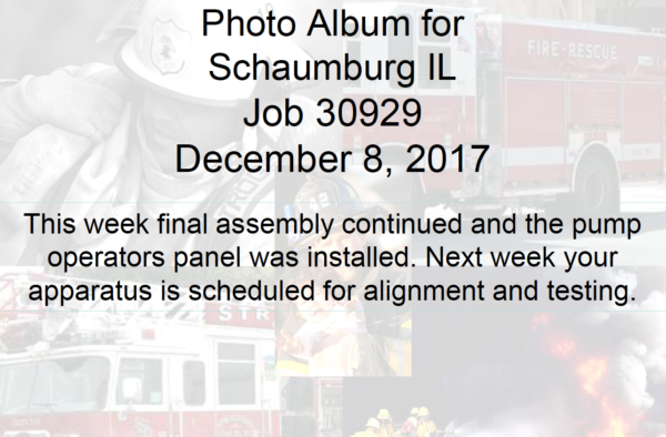 Schaumburg FD Squad 55 being built