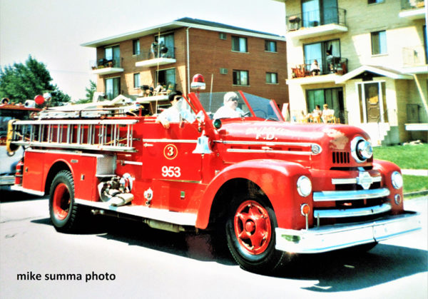 vintage Seagrave fire engine