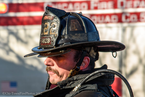 closeup of firefighter