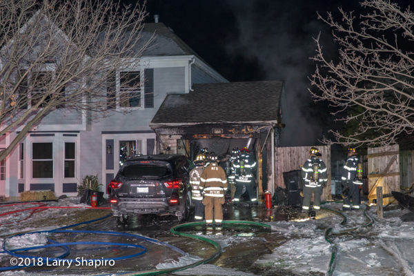 attached garage destroyed by fire