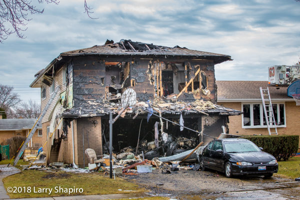 aftermath of Des Plaines house fire