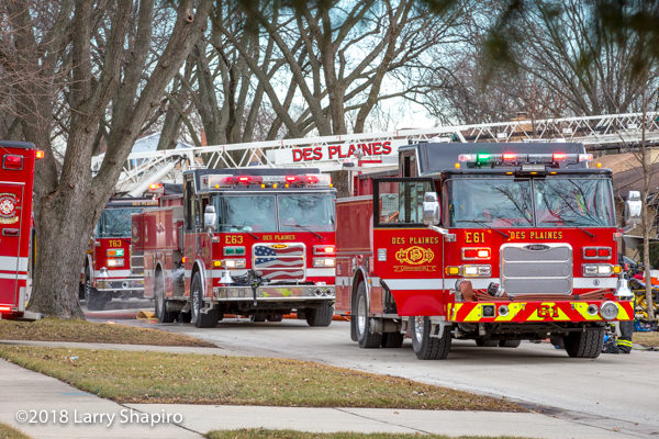 Des Plaines fire trucks Pierce
