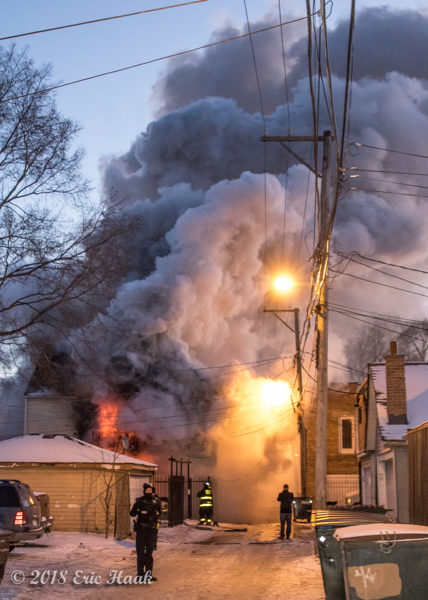 house fire in frigid weather