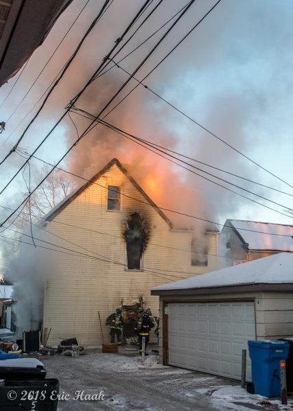house fire in frigid weather