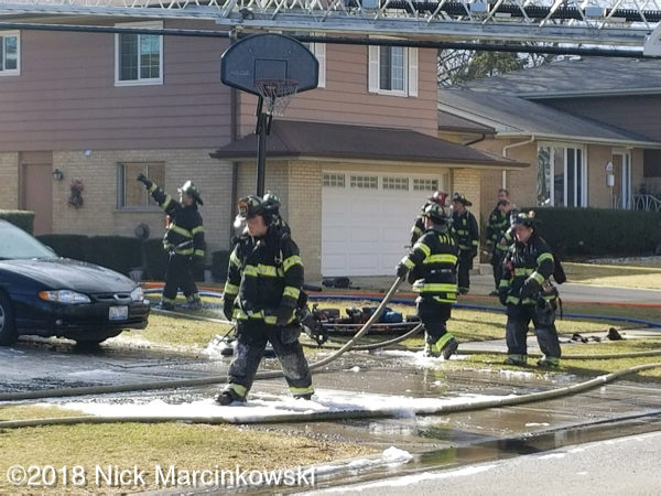 house fire at 539 Windmere Road in Des Plaines
