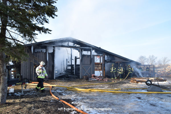 Mettawa barn destroyed by fire