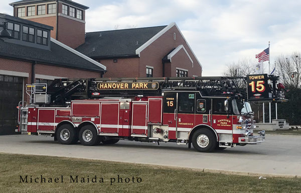 Hanover Park FD Tower Ladder 15