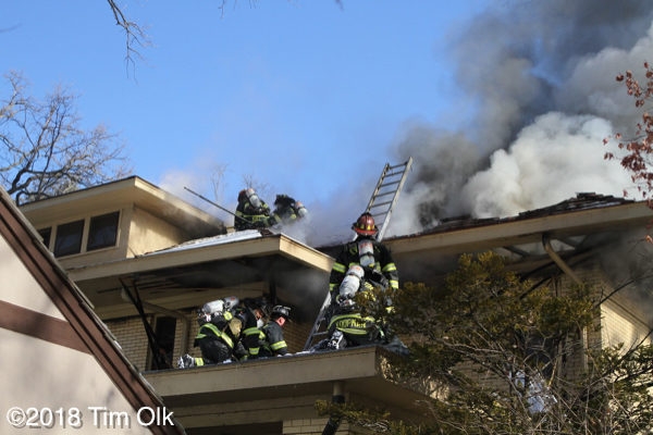 house fire in Evanston on Sheridan Place