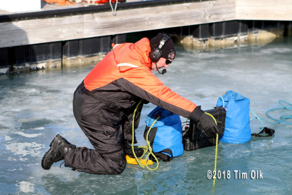 fire department diver training in cold water