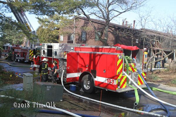 Westmont FD fire engine at work