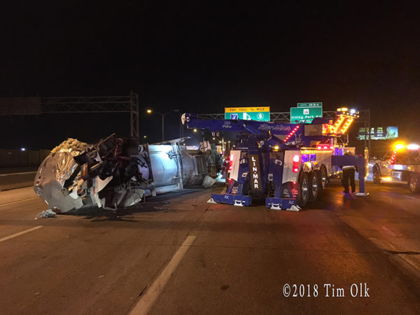 fatal truck crash on I-294 1/29/18