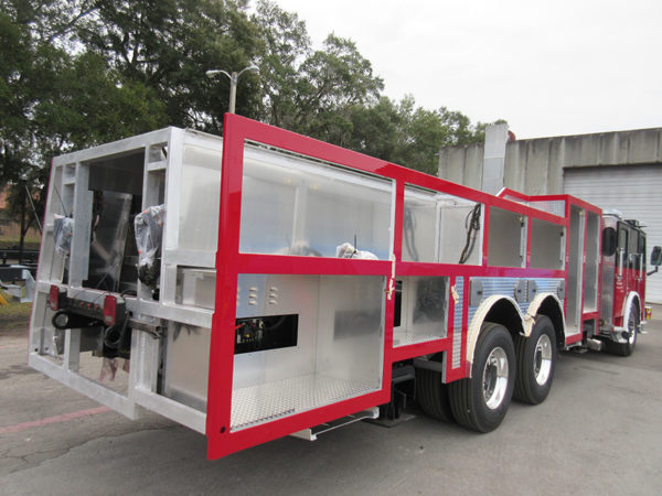 Fire truck being built by E-ONE