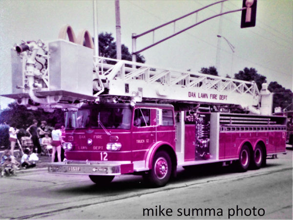 Oak Lawn FD Truck 2 vintage photo