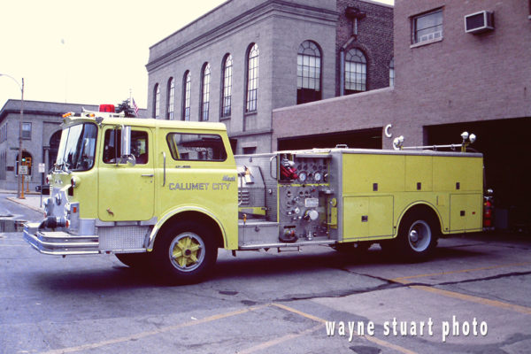 Calumet City FD Mack CF fire engine