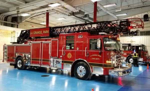 new fire truck for the La Grange Park Fire Department