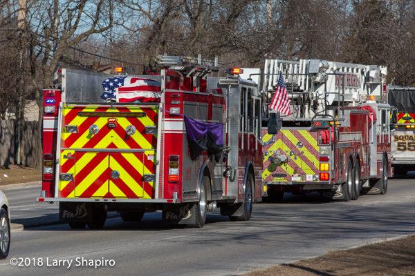 "Buffalo Grove FF/PM John ""Kevin"" Hauber funeral 2/2/18"