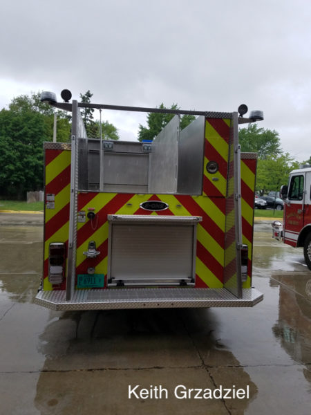 E-ONE fire engine with low hose bed