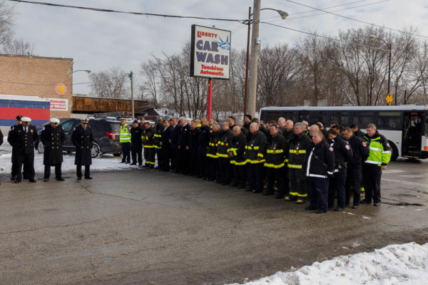 Ceremony to mark the 50th Anniversary of the Mickelberry Sausage Company fire