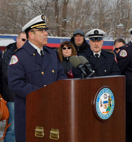 Chicago FD Commissioner Jose Santiago