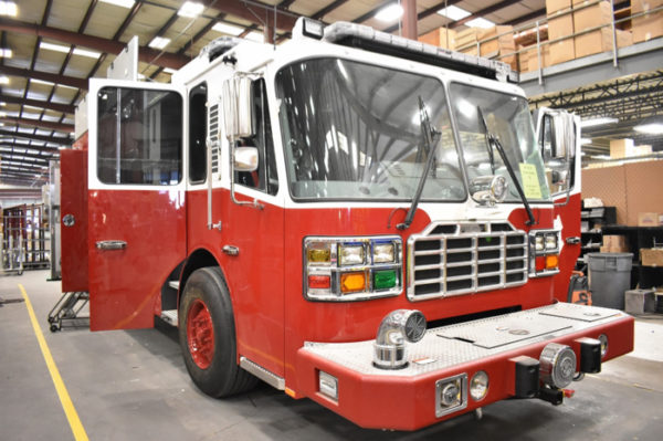 fire engine being built for the East Joliet FPD