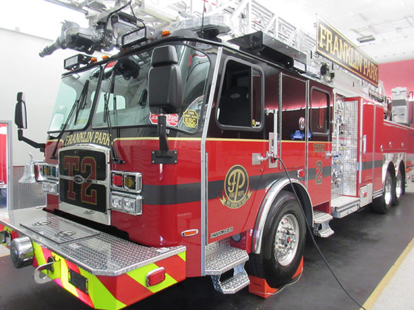 new fire truck for the Franklin Park FD