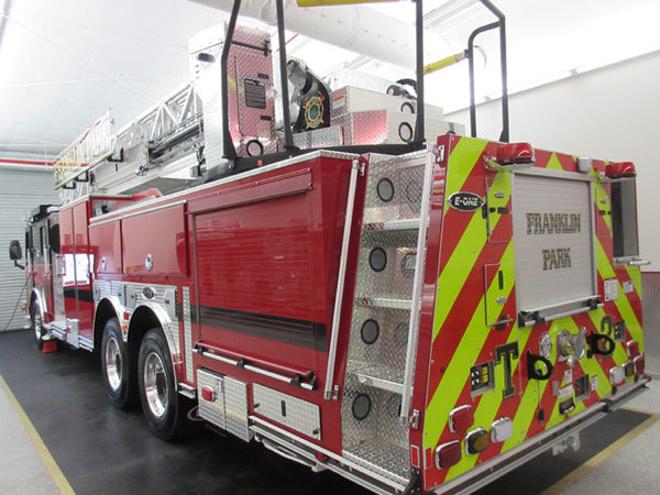 new fire truck for the Franklin Park Fire Department