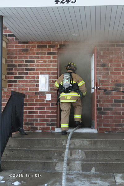 Gurnee firefighter at work