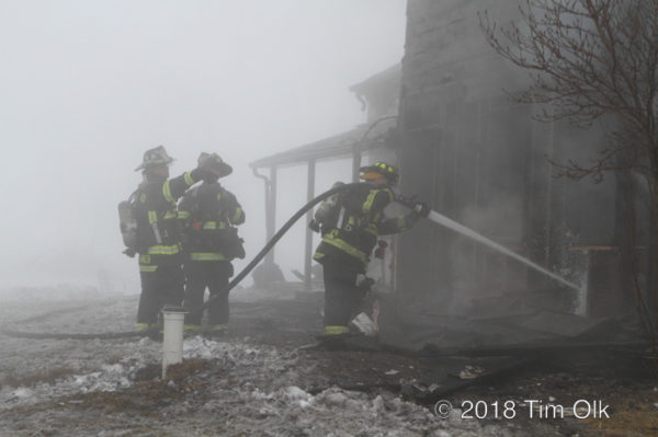 house fire scene in Frankfort IL 2/15/18