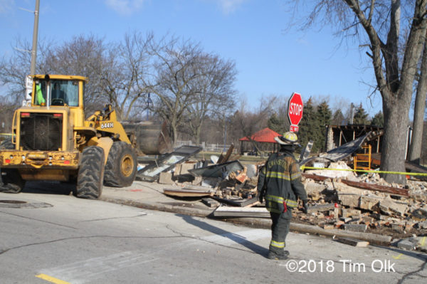 building collapse in Evanston