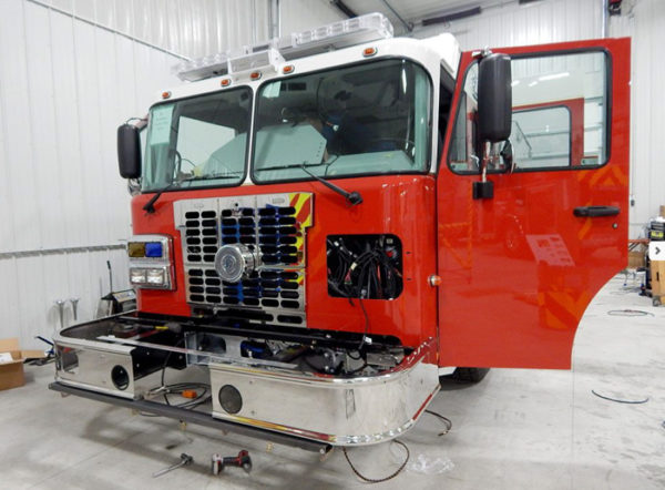 fire engine being built for Braidwood