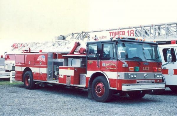 Former Midlothian, IL fire truck in Hazel Green, Alabama