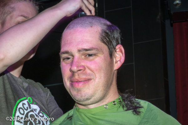 head shaving for St Baldrick's