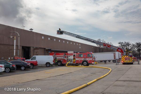 Wheeling FD fire trucks on scene