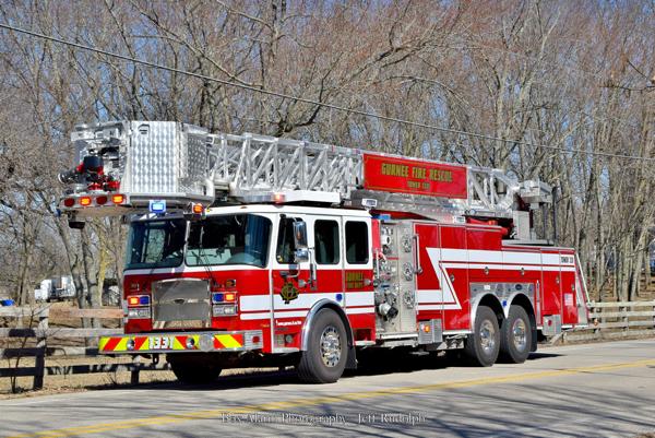 Gurnee Fire Department tower ladder