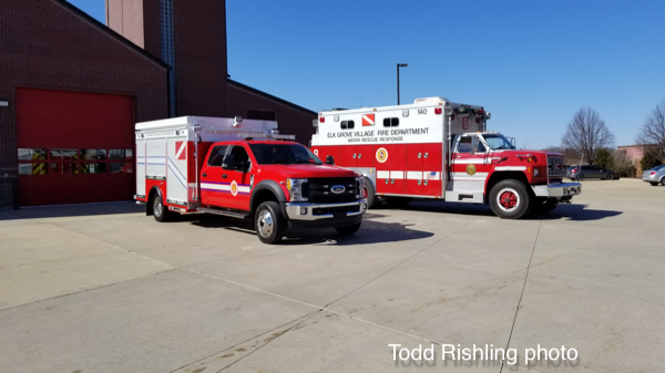 Elk Grove Village FD Dive Squad 8 old and new