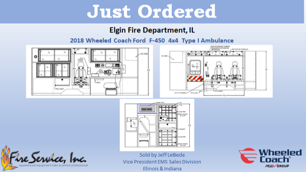 drawing of new ambulance for the Elgin Fire Department