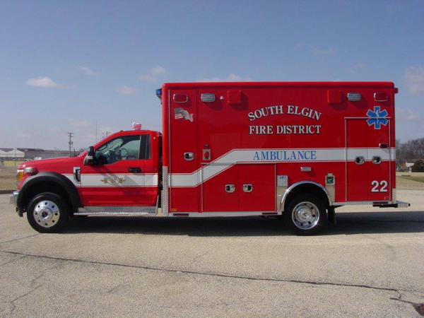 new ambulance for the South Elgin & Countryside FPD