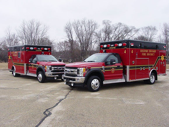 New ambulances for the Lockport Township FPD