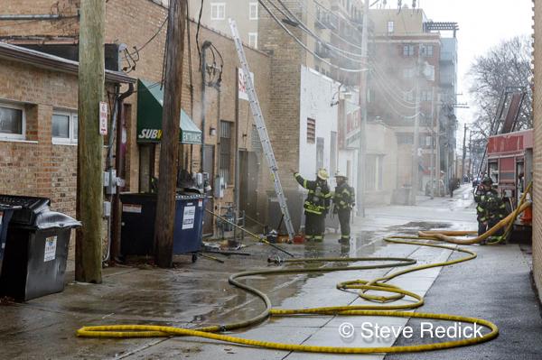 commercial fire in Skokie