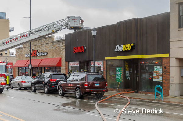 commercial fire in Skokie