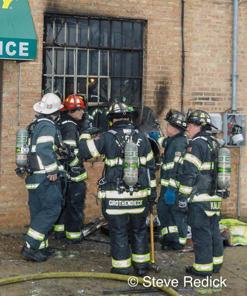 Skokie Firefighters on scene