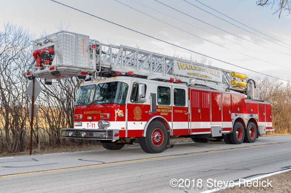 Warrenville Fire Protection District tower ladder